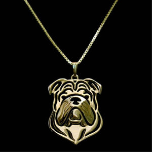 Collectable English Bulldog Necklace-DogsTailCircle