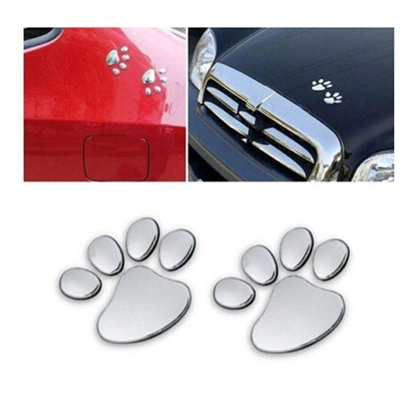 Cute 3D Car Decal Dog Paw-DogsTailCircle