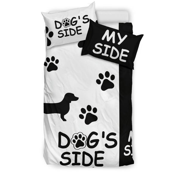 "Dachshund Duvet Cover Set ""Dog's Side, My Side""-DogsTailCircle"