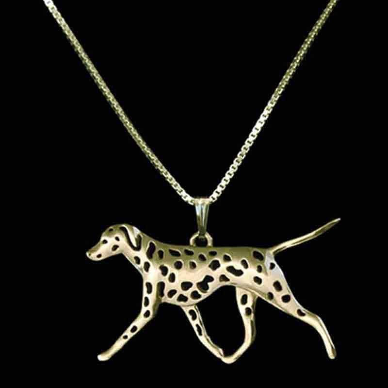 Dalmatian Dog Necklace-DogsTailCircle