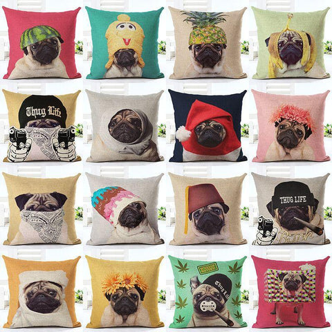 Decorative Dog Cushion Covers Throw Pillow Home Decor-DogsTailCircle