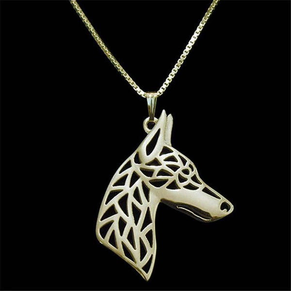 Doberman Dog Necklace-DogsTailCircle