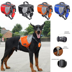 Dog Harness K9 Accessories Saddlebag Backpack-DogsTailCircle