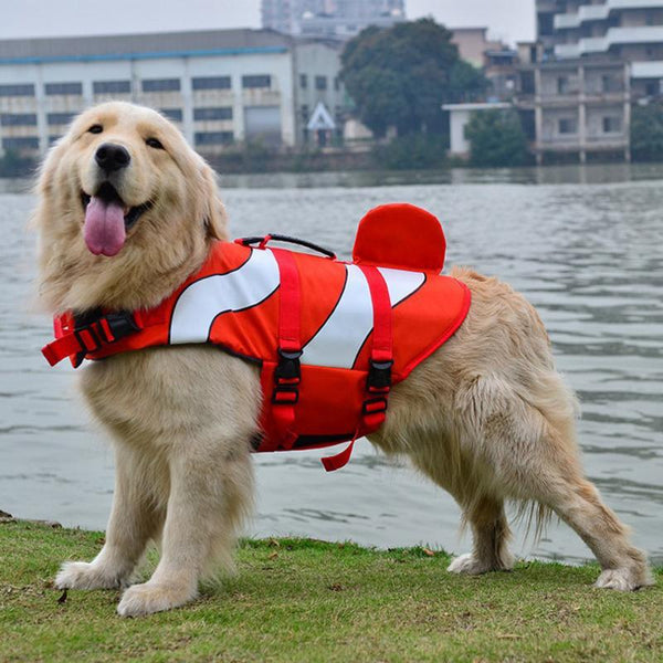 Dog Life Jacket Safety Wear - Clownfish Mermaid Shark-DogsTailCircle