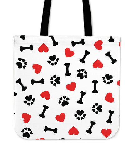 Dog Love Bone - Cotton Tote Bag-DogsTailCircle