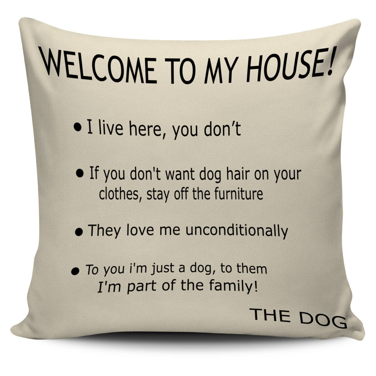 Dog's house Pillow Cover-DogsTailCircle