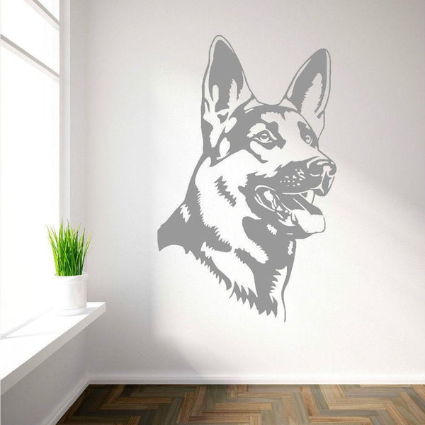 German Shepherd Dog Vinyl Wall Art Decal-DogsTailCircle