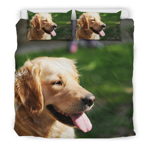 Golden Retriever Duvet Set-DogsTailCircle