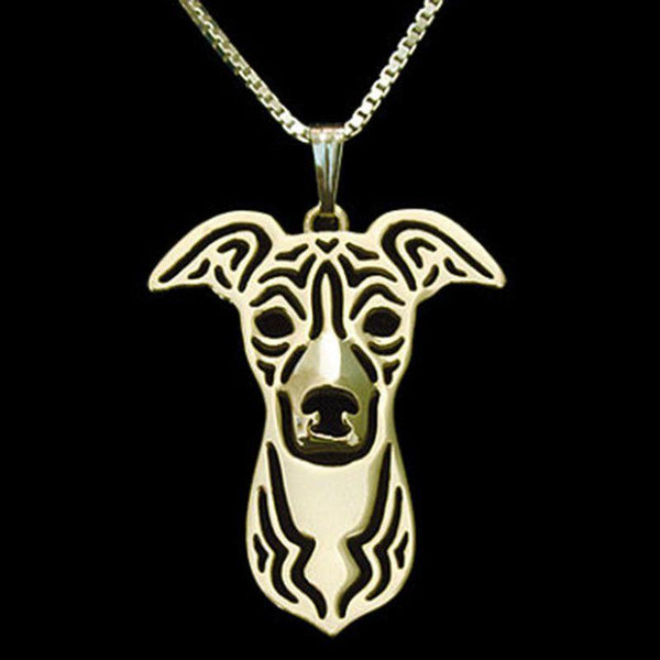 Greyhound Dog Necklace-DogsTailCircle