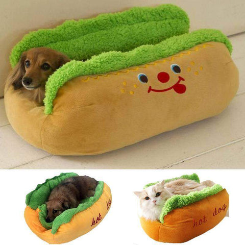 Hot Dog Pet Winter Bed-DogsTailCircle