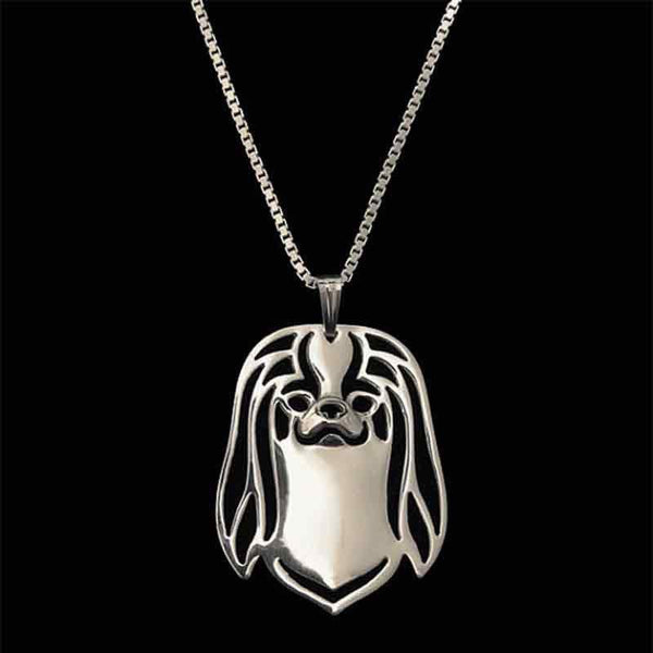 Japanese Chin Dog Necklace-DogsTailCircle