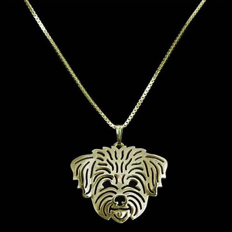 Lhasa Apso Dog Necklace-DogsTailCircle