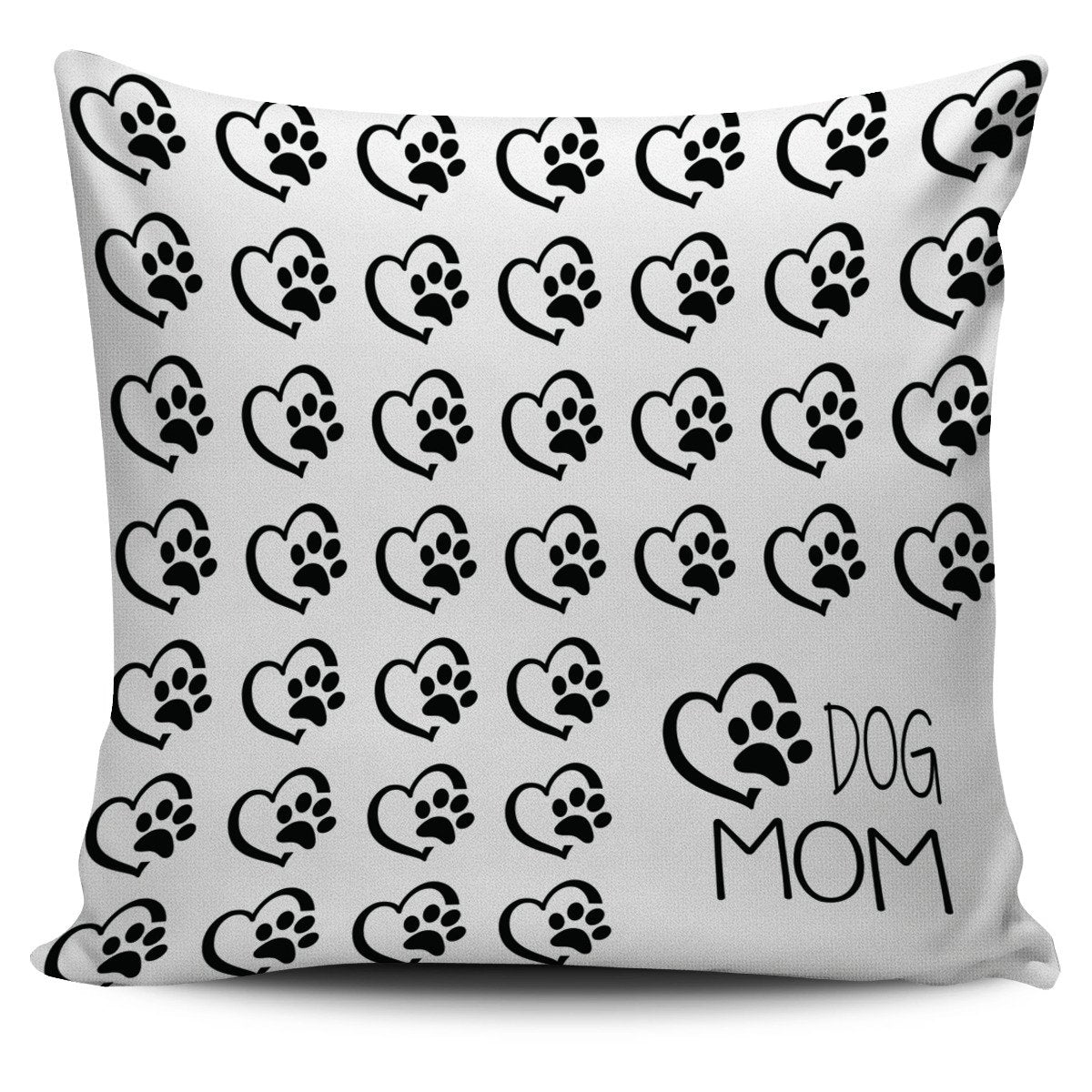 Love Dog Mom Pillow Cover-DogsTailCircle