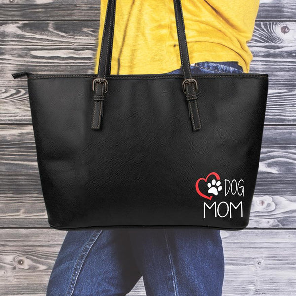 Love Dog Mom Small Tote-DogsTailCircle