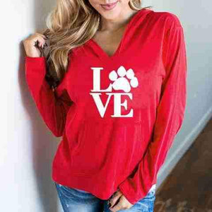 Love Paw Hoody-DogsTailCircle
