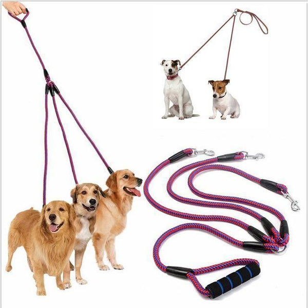 No-Tangle 2 and 3 Way Coupler Dog Leash-DogsTailCircle
