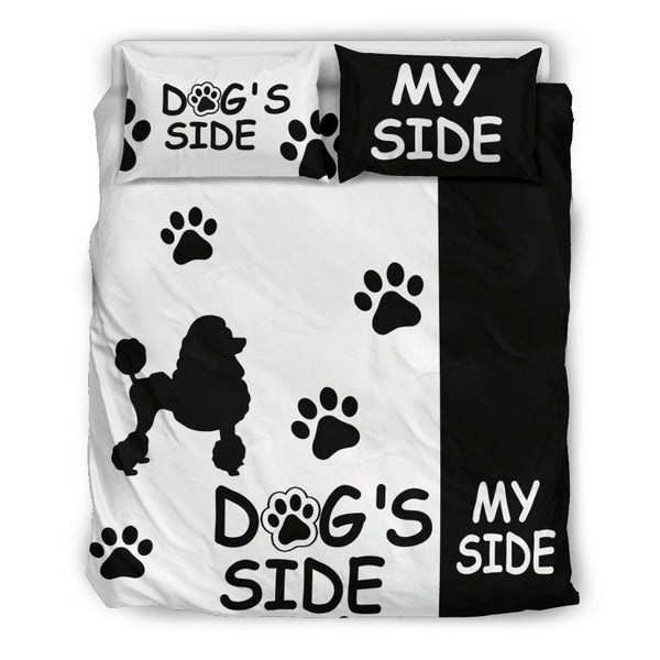 "Poodle Duvet Cover Set ""Dog's Side, My Side""-DogsTailCircle"