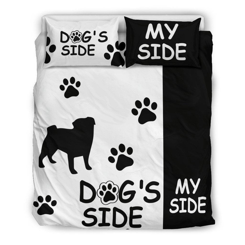 PUG Dog's Side My Side Duvet Cover Set-DogsTailCircle