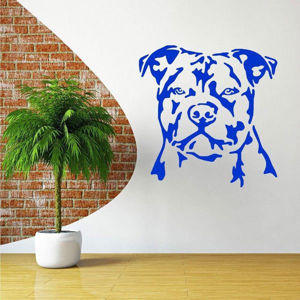 Staffordshire Bull Terrier Dog Vinyl Wall Art Decal-DogsTailCircle