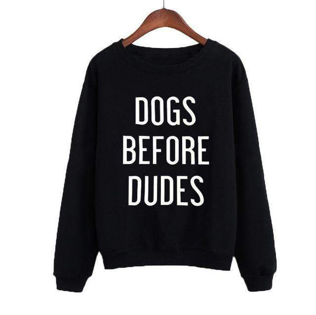 Women's 'Dogs Before Dudes' Sweatshirt-DogsTailCircle