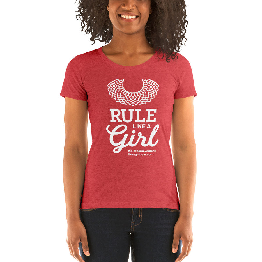 Rule Like A Girl - WH (W S/S Tri-Blend T-Shirt)