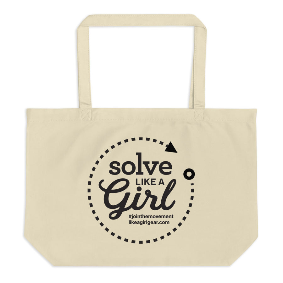 Solve Like A Girl - BLK (Large Organic Tote)