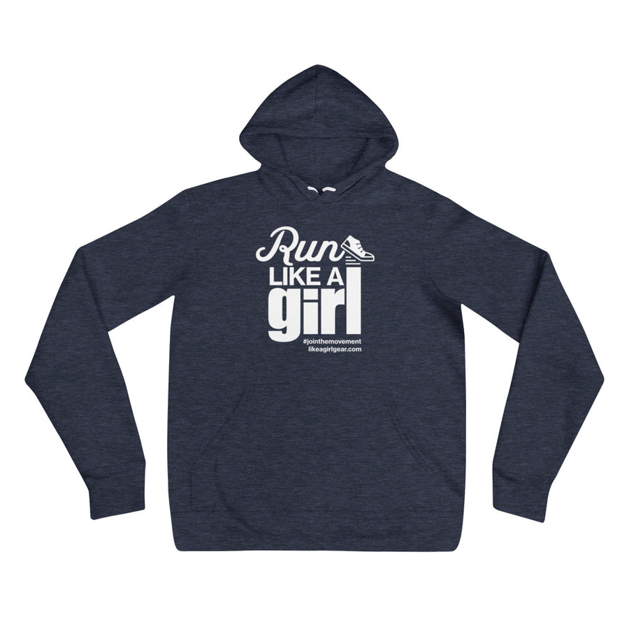 Run Like A Girl - WH (Unisex Pullover Hoodie)
