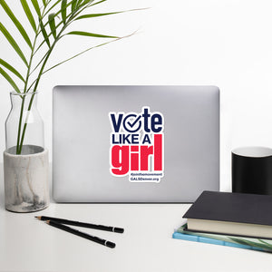 Vote Like A Girl (Large Sticker)