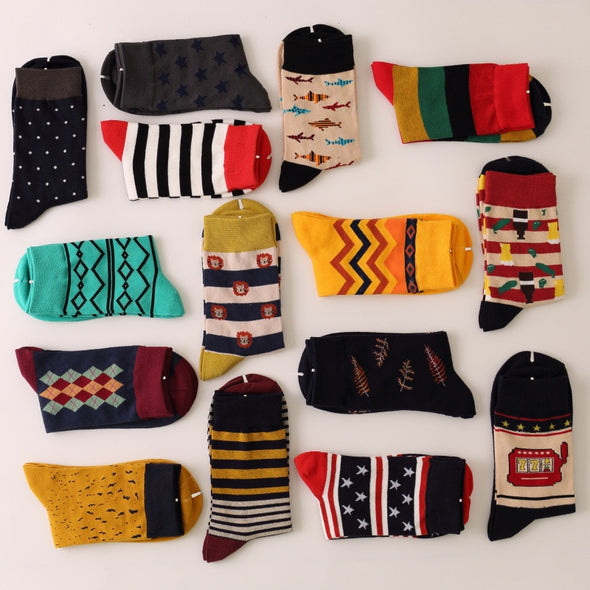 Men luxury colorful Business cotton Socks