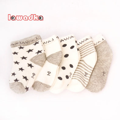 5Pair Striped Baby Socks Newborn Cotton Boys Girls Sock Cute Toddler Socks