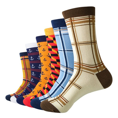 Men's colorful  Dress Socks (6 pairs)