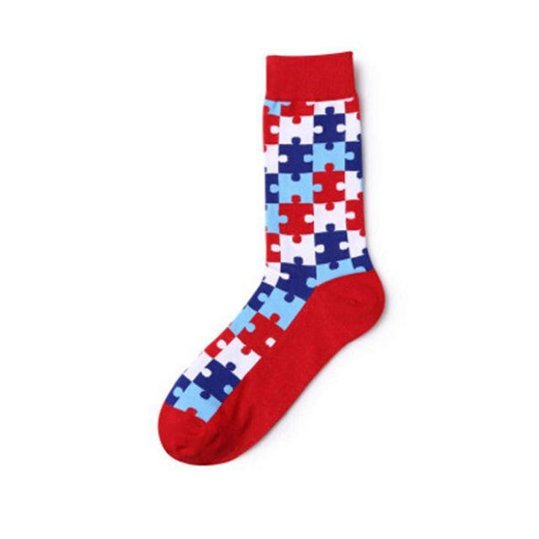 Puzzling Mens Sock