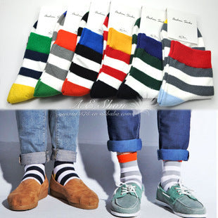 6 pair stripes winter warm socks