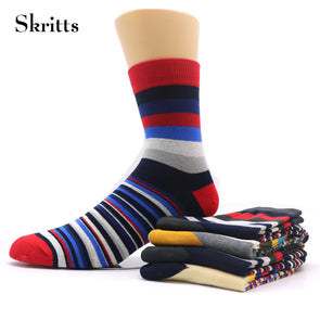 Mens Colorful Striped Short Art Sock Compression Winter Warm Socks Fashion Business Mens Dress Socks (2 Pair)