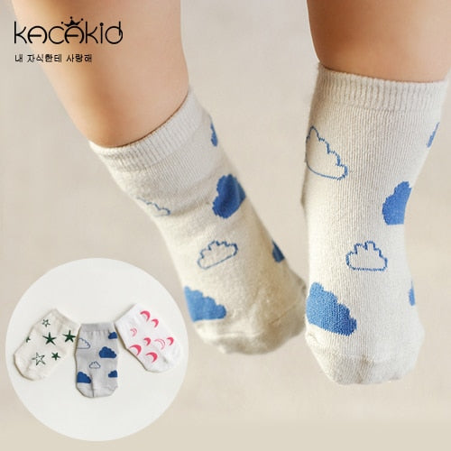 Newborn Socks Cartoon 100% Cotton Baby Socks No-slip Infant Cotton Socks