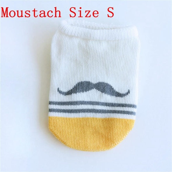 1Pairs Unisex Cotton Ankle Baby Socks For Boy/Girl Infant Toddler Cute Cartoon Short Floor Anti Slip Socks Spring Summer Style