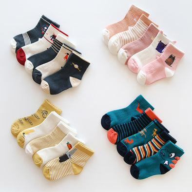 5 Pair Children Winter Cartoon Socks for Baby Girls/Boy