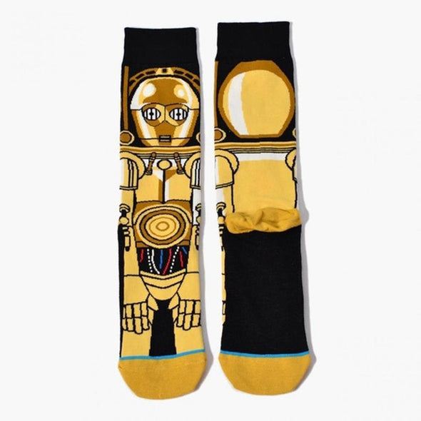 Men Pattern Cartoon 8 Cotton Pattern Long Socks Geometric geometric cartoon