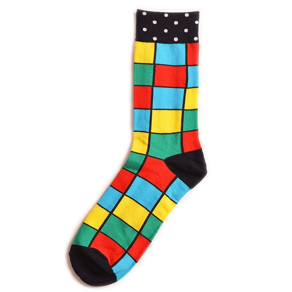 Crew Cotton Happy Socks Men British Style Casual