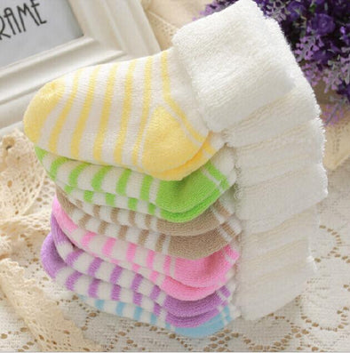 1 Pair Newborn Brand New Cotton Winter Baby Girls Infant Striped