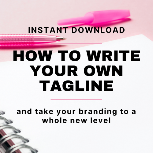 How To Write Your Own Tagline eBook - INSTANT DOWNLOAD