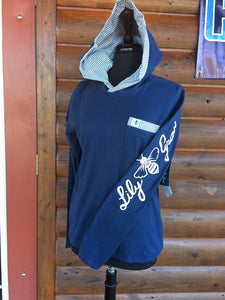 Lily Grace Hoodie ~ Navy