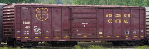 HO Scale - PS 5077 Cu Ft - 50ft Boxcar - Lot 9832-2 - Wisconsin Central (SSAM) (NARC)