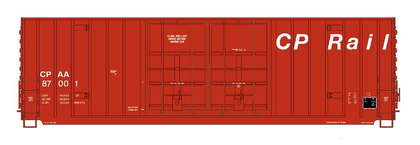 Gunderson 50' High Cube Double Door Boxcar - CP Rail / ex-MILW