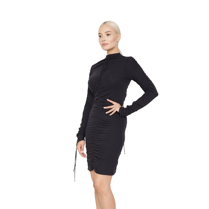 witch-witch - Knitted Dress with Drawstring - Giulia & Grace - Woman Dress