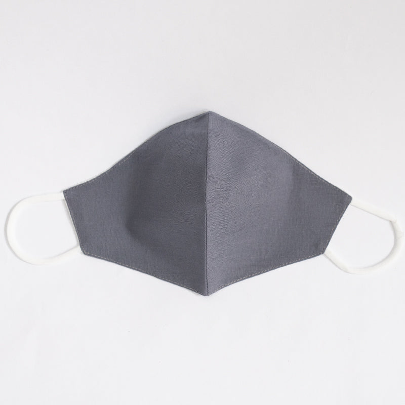Cotton Linen Plain Color Mask