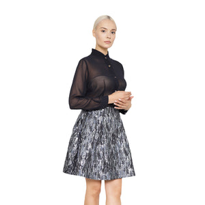 witch-witch - Sliver Jacquard Camouflage Skirt - Giulia & Grace - Woman Skirt