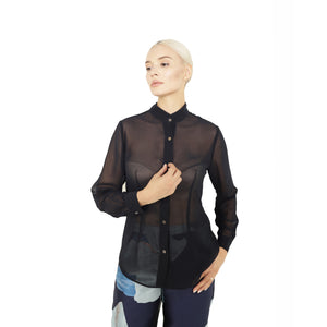 witch-witch - Chiffon Black Shirt - Giulia & Grace - Woman Shirt