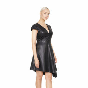 witch-witch - Eco Leather Vintage Dress - Giulia & Grace - Woman Dress