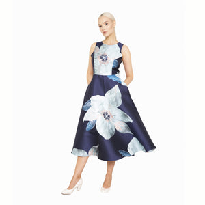 witch-witch - Jacquard Lurex Flower Long Dress - Giulia & Grace - Woman Dress